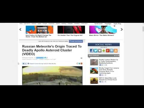 Russian Meteorites Traced Back To Deadly Apollo Asteroid Cluster (28th Feb 2013)