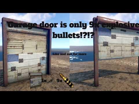 Garage Doors Are 9 explosive bullets  - YouTube
