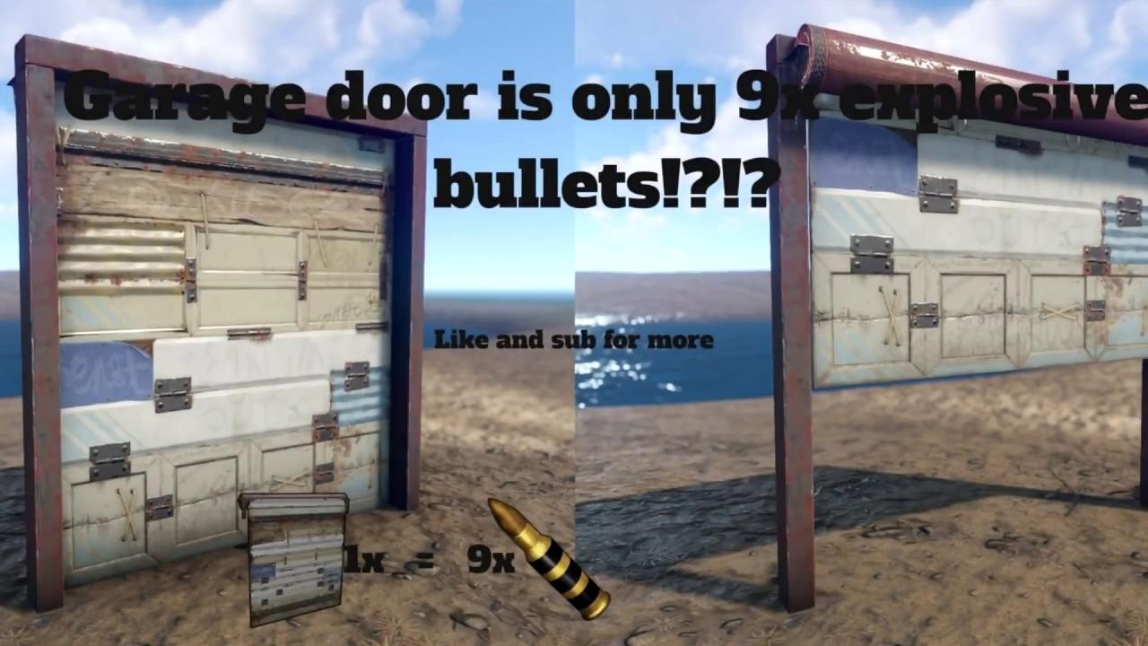 Garage Doors Are 9 explosive bullets