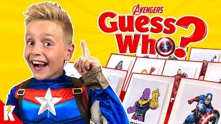 Giant AVENGERS ENDGAME Guess Who Board Game &amp Super Hero Gear KIDCITY