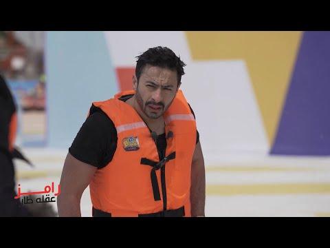 رد فعل حمادة هلال بعد رؤية رامز جلال في رامز عقله طار