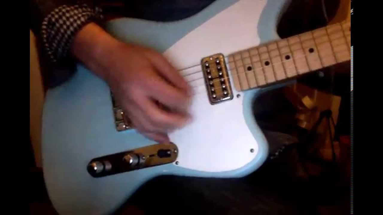 Waterslide Guitars Telemaster In Sonic Blue W   Tv Jones Classic Filtertron Pickups