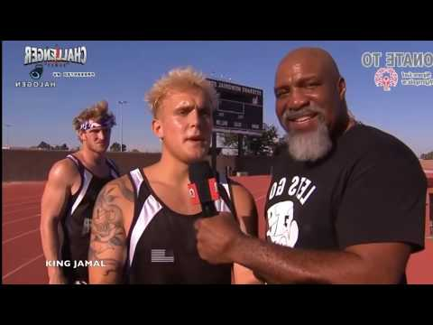 All Men's 100m Dash Races! Jake Paul Cheats in The CHALLENGER GAMES full footage