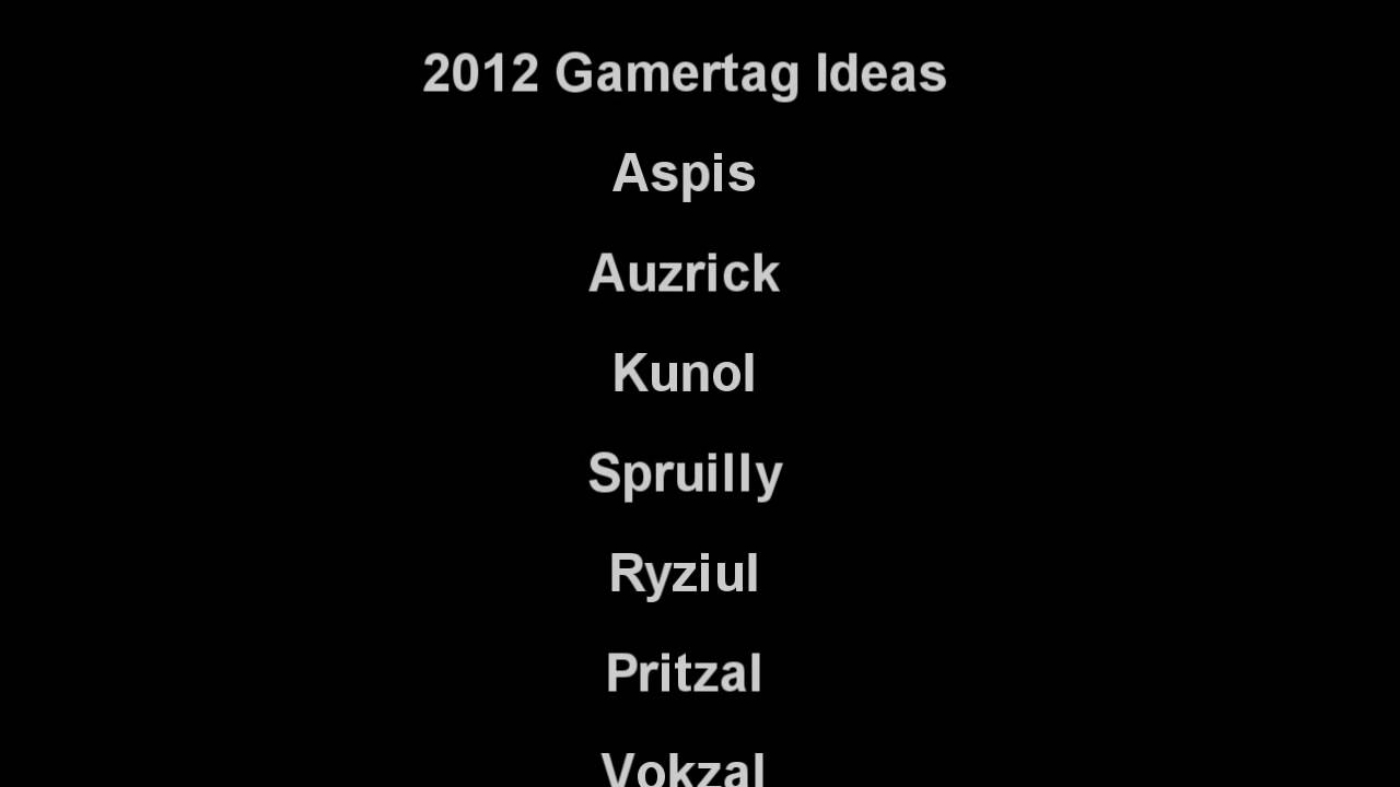 Good gamertags ideas