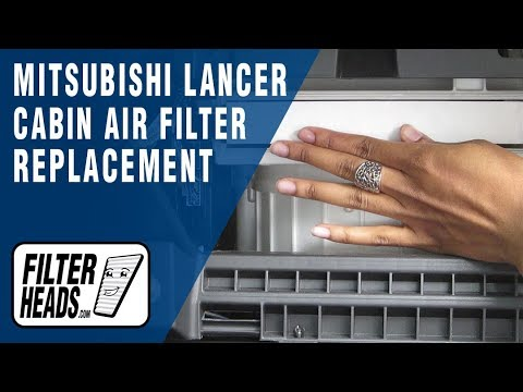 How To Replace Cabin Air Filter Mitsubishi Lancer Youtube
