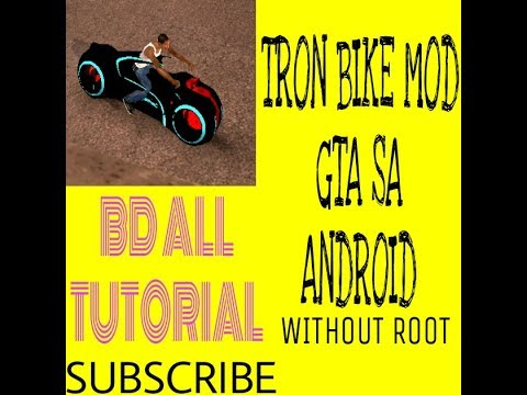 how to add tron bike gta san andreas android without root!!