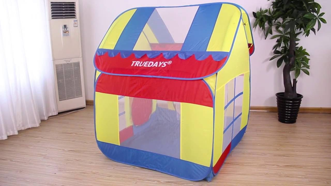 Kids Play Tent How To Take Down And Fold Truedays Kids Play Tent Hut Playhouse
