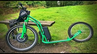 Voilamart 1000w 48v 16ah DIY Electric Kick Scooter RIDE in 4K : Boarshaw Clough #Escooter