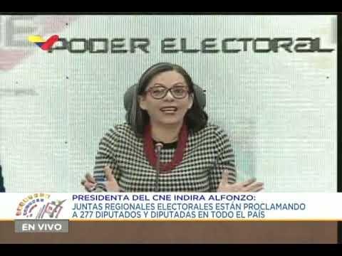 CNE realizó proclamación de diputadas y diputados electos el pasado 6 de diciembre