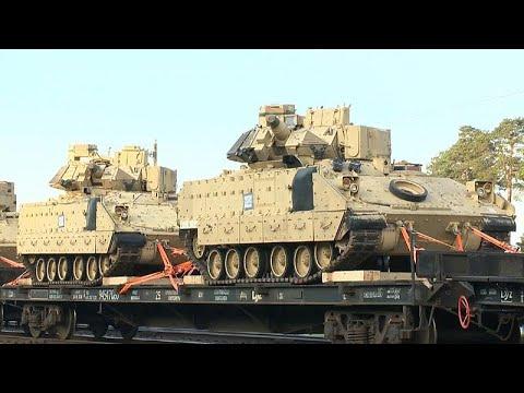 Американские танки у белорусской грницы