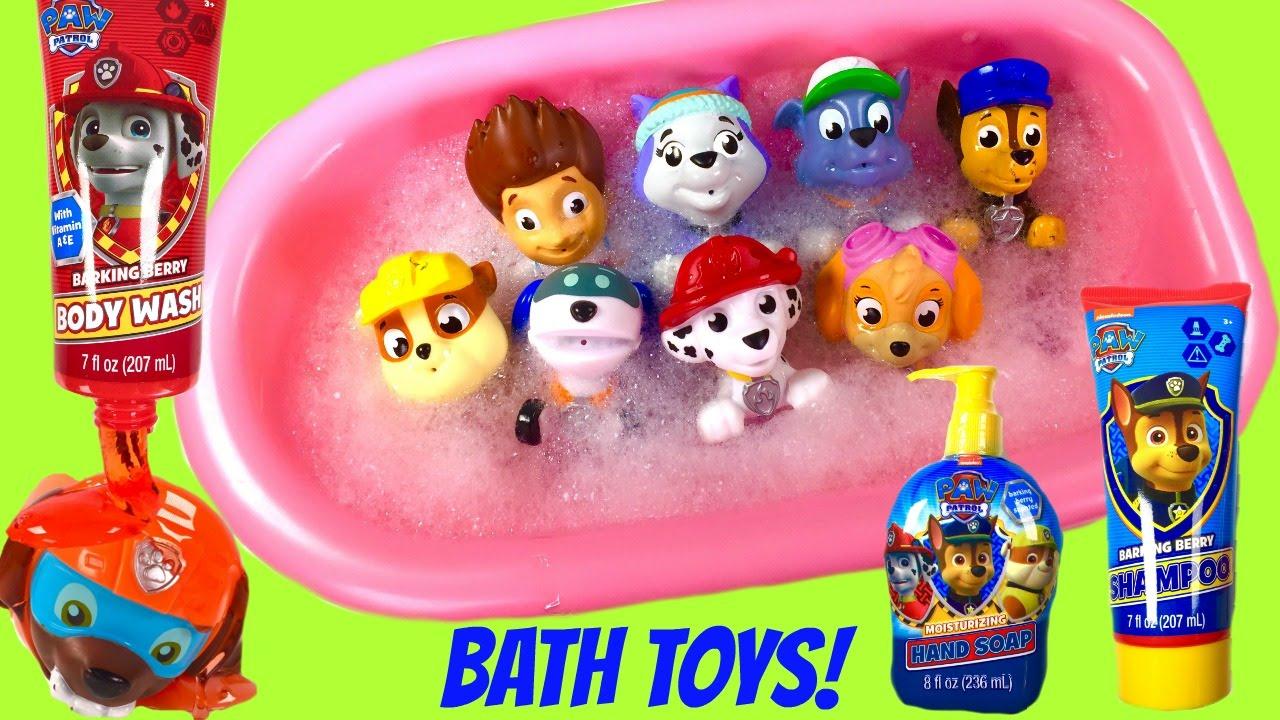 Paw Patrol Bath Toys Soap Shampoo and Bubbles! Bath Squirters ...