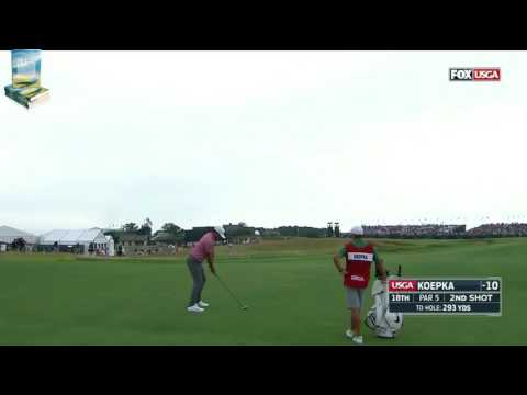 Champion Brooks Koepka Hits 667 yard par 5 in 2 at 2017 US Open