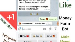Money Farm Bot Miner Earn fast Bitcoin with Telegram app unlimited bots PayPal Cash Online Earn
