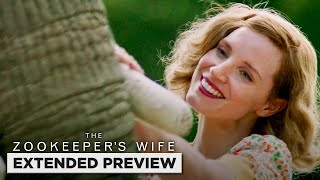 The Zookeeper's Wife   Jessica Chastain Taking Care of Animals