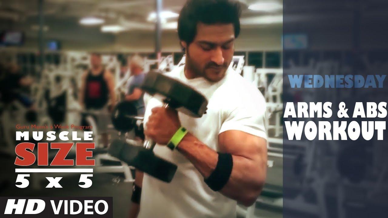 Workout Calendar By Guru Mann : Wednesday arms abs workout quot muscle size program