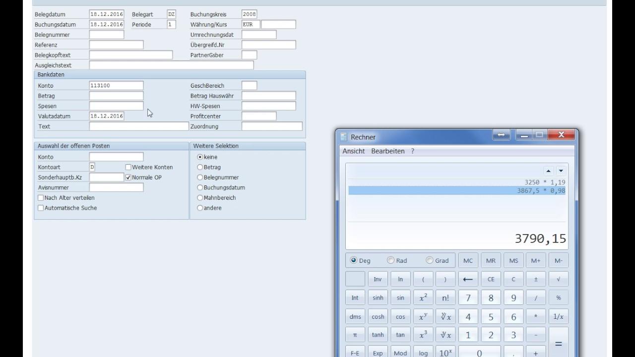 SAP Verkauf/Vertrieb 06: F-28 Zahlungseingang des Kunden/Kreditors ...