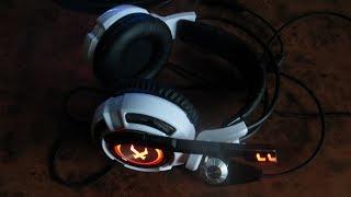 Xiberia K3 Over Ear игровая стереогарнитура Распаковка aliexpress Обзор Наушники со светодиодами