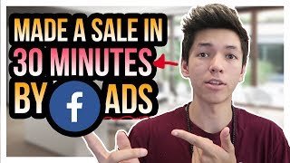 I Made A Sale 30 Minutes After Launching A FaceBook Ad (here