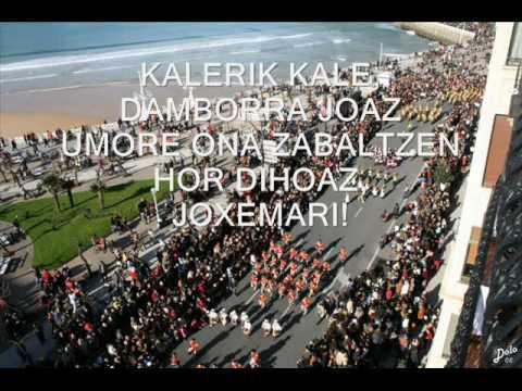 Marcha de San Sebastian con letra