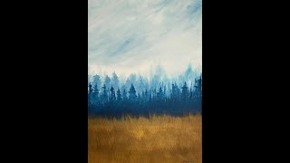 Golden Hour in the Woods - Acrylic Painting