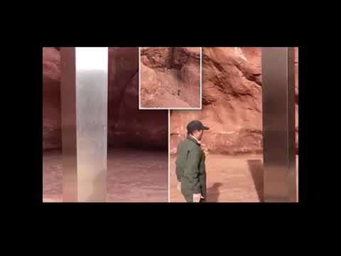 Utah monolith: Helicopter crew discovers mysterious metal monolith ...