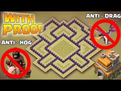Clash Of Clans | Best Town Hall 7 War Base WITH PROOF | Anti Drag/Anti Hog/Anti Giants War Base 2017