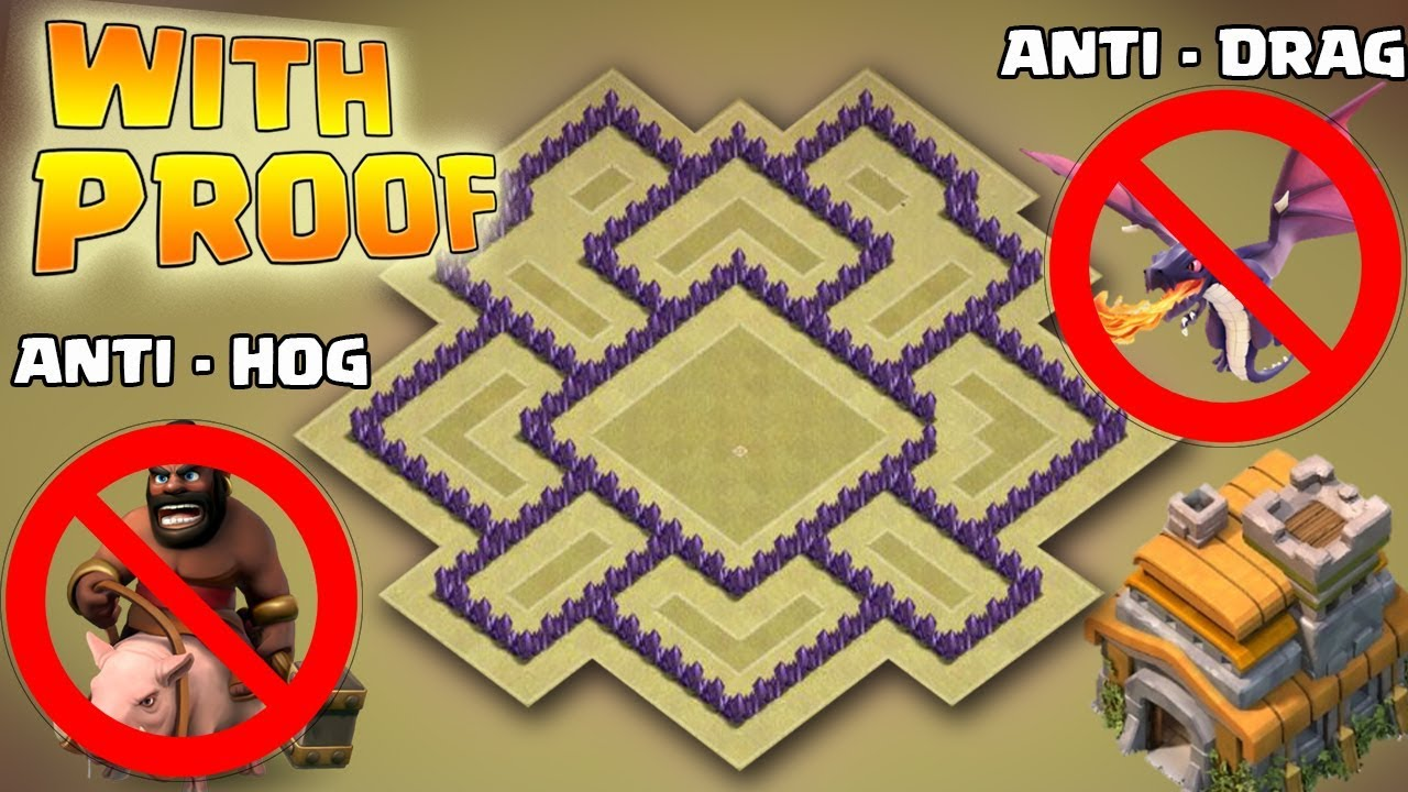 Clash Of Clans Best Town Hall 7 War Base With Proof Anti Drag Anti Hog Anti Giants War Base 2017 Youtube
