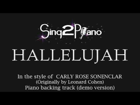 Hallelujah (Piano Backing Track) Carly Rose Sonenclar