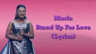 Maria - Stand Up For Love (Lyrics) - Result & Reunion Indonesian Idol 2018