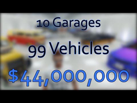 GTA Online $$$44MILLION$$$ Garage Tour - Part 1