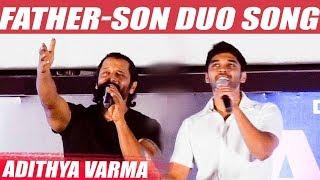 WOW: Vikram & Dhruv LIVE  singing on stage |  Adithya Varma Trailer