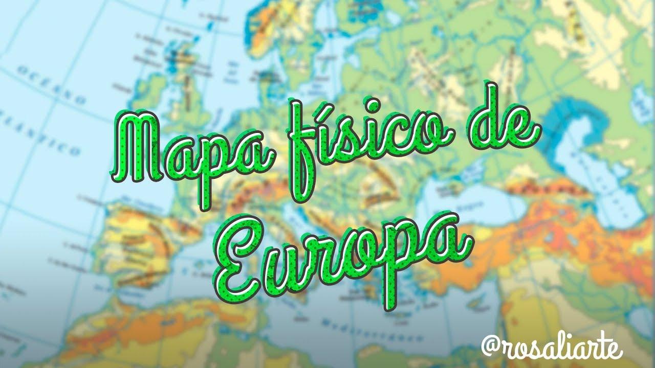 Mapa Físico De Europa 1º Eso