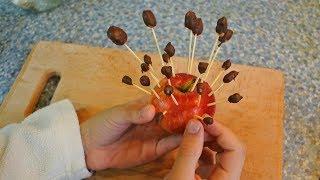 Орешки в шоколаде на палочках
