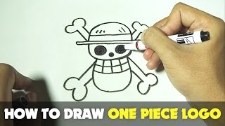 How to Draw a Cartoon - One Piece Logo (Tutorial Step by Step)