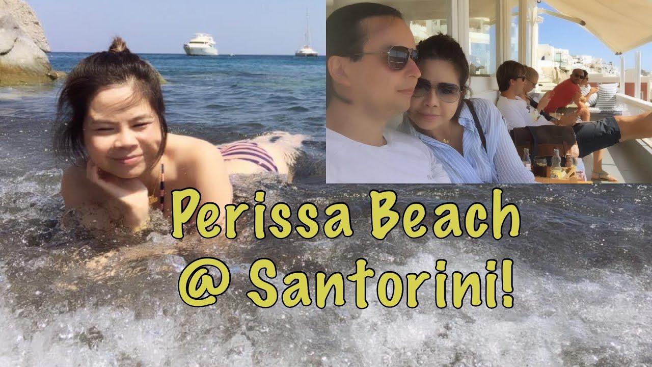 Perissa Beach Santorini Greece Youtube