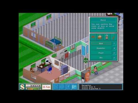Theme Hospital - start og Mission 1