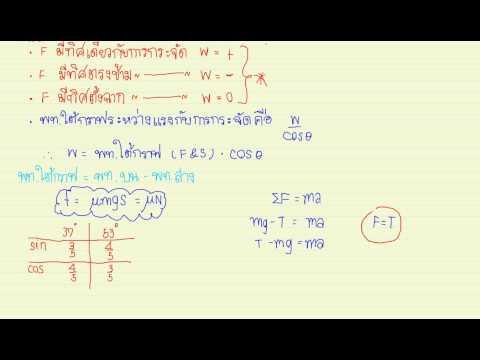 สรุปฟิสิกส์ : งานและพลังงาน ตอนที่ 1