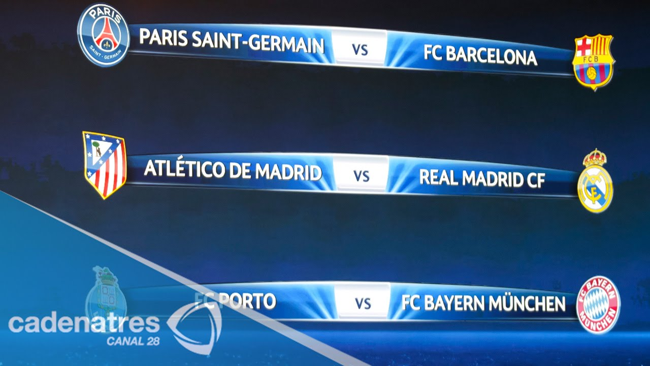 Listos los cuartos de final de la Champions League - YouTube