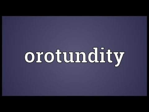 Header of orotundity