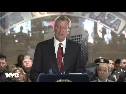 Mayor de Blasio Delivers Remarks at NYPD Memorial Honoring Fallen Police Officers