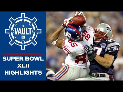 2007 Super Bowl XLII Giants UPSET Undefeated Patriots | Eli Manning To David Tyree