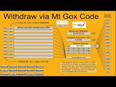 MtGox USD to BTC e Bitcoins in 1 minute