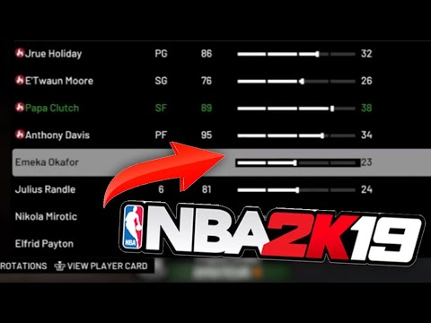 How to INFLUENCE ROTATIONS/MINUTES in NBA2k19- My Career Tips