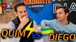 ADIVINANDO JUGADORES con EMOJIS | Quim VS. Diego con El Chiringuito