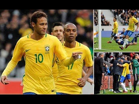 Brazil 3-1 Japan: Neymar and Gabriel Jesus bag