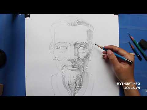 Đề thi Kiến Trúc Vẽ Mỹ Thuật 2020 Tượng Ông Già Có Râu