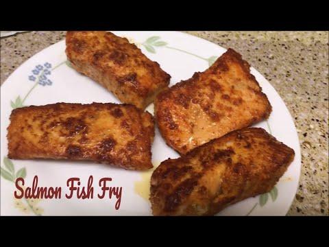 Salmon Fish Fry/How To Make Salmon In Indian Style/ Salmon Fish Recipe