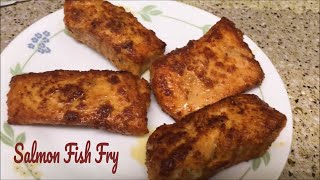 Salmon Fish Fry/How to make Salmon in Indian Style/ Salmon Fish recipe