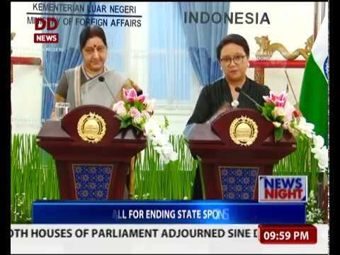 Sushma Swaraj meets Indonesian Vice President in Jakarta
