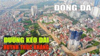 Hình hài đường Huỳnh Thúc Kháng kéo dài của quận Đống Đa sẽ giảm ùn tắc nhiều tuyến phố của Hà Nội